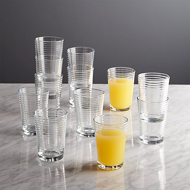 Rings Juice Glasses, Set of 12