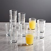 Rings Juice Glasses, Set of 12