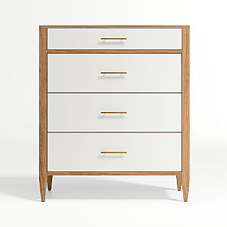 Lancaster Cream /& Oak Wide Chest Of 7 Drawers