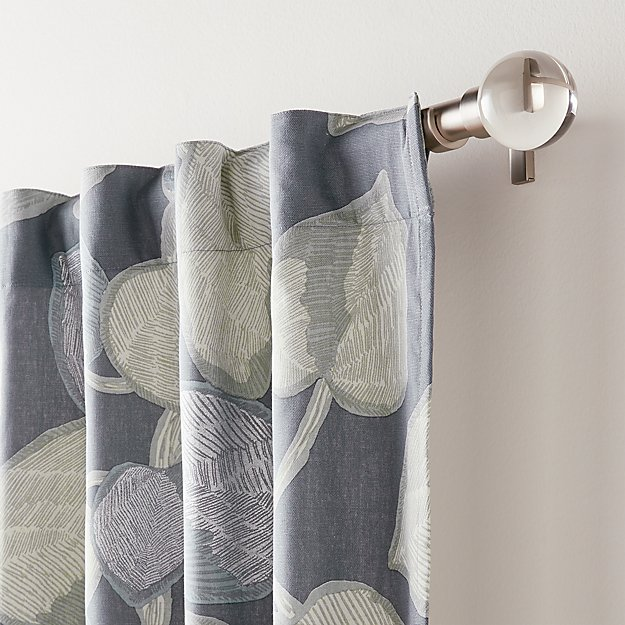 Riona Leaf Print Curtain Panel Crate And Barrel