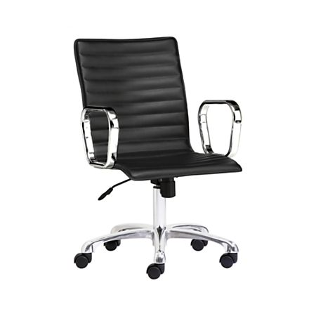 Fantastic Ripple Black Leather Office Chair With Chrome Base Ncnpc Chair Design For Home Ncnpcorg