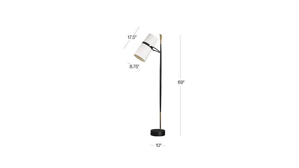 Riston Floor Lamp | Crate and Barrel on Riston Floor Lamp  id=81068