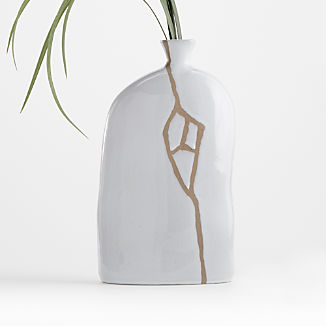 River White Ceramic Vase
