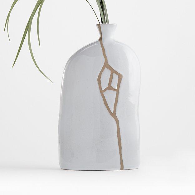 River White Ceramic Vase - Image 1 of 5