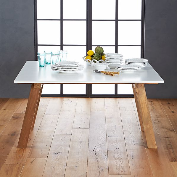 Riviera Square White Top Dining Table