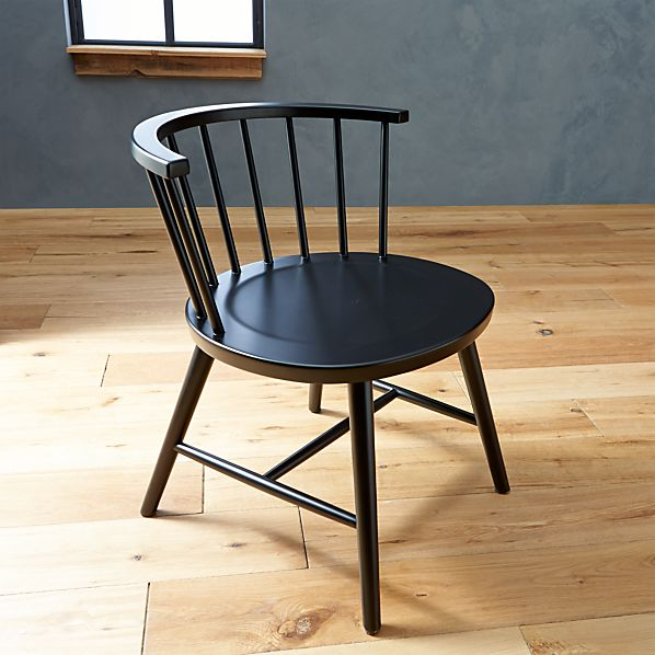 Riviera Black Low Windsor Side Chair