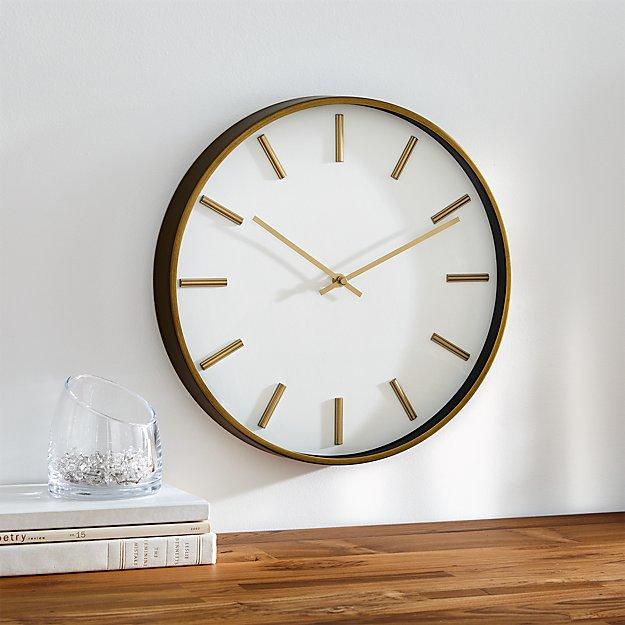 Rix Brass 14 Quot Wall Clock Reviews Crate And Barrel