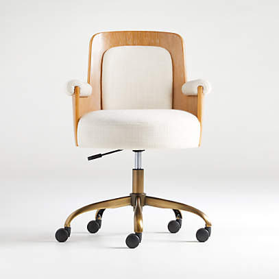 Roan Wood Office Chair Crate And Barrel