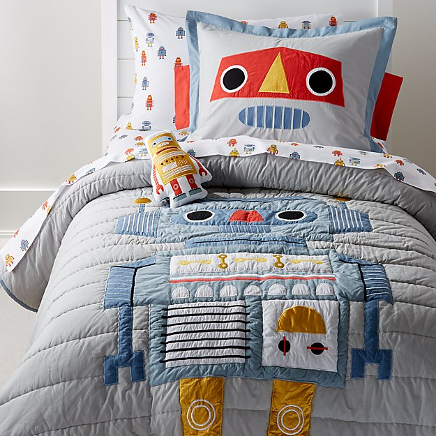 Cb2 Free Shipping >> Robot Bedding | Crate and Barrel