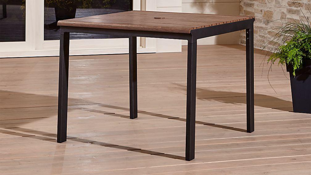 rocha ii caf table reviews crate and barrel. Black Bedroom Furniture Sets. Home Design Ideas