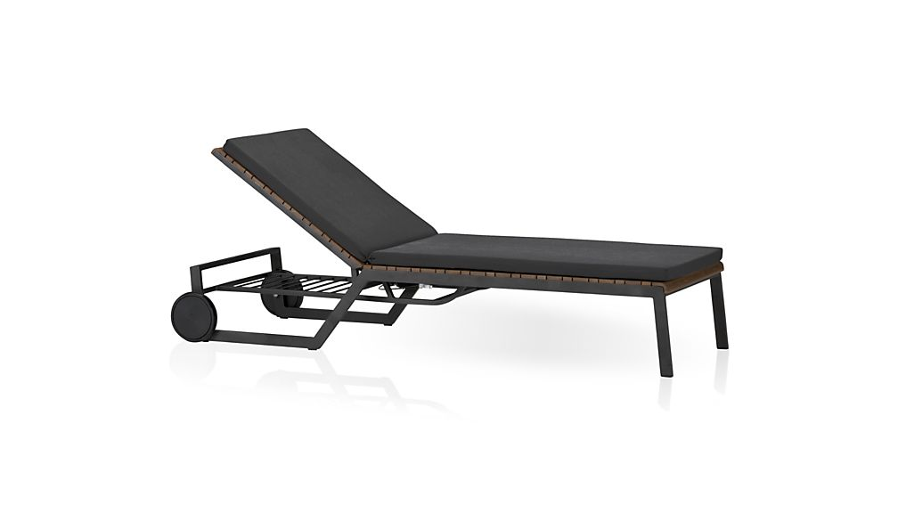 ... Rocha Sunbrella ® Chaise Lounge Cushion ...  sc 1 st  Crate and Barrel : chaise lounge pillow - Sectionals, Sofas & Couches