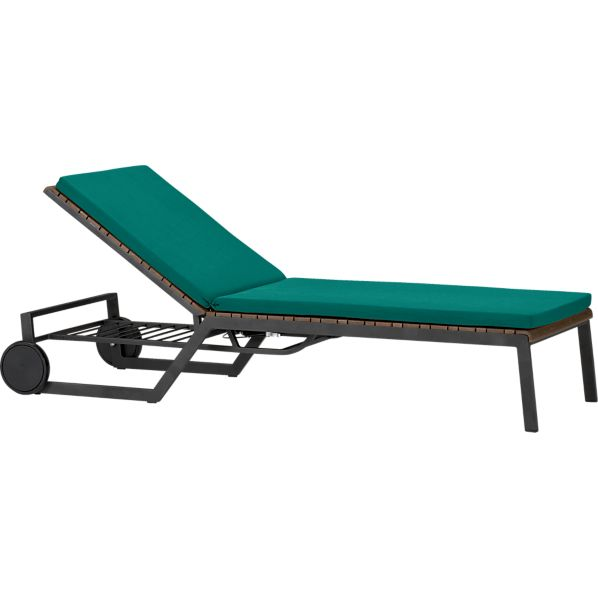 Rocha Chaise Lounge with Sunbrella ® Harbor Blue Cushion