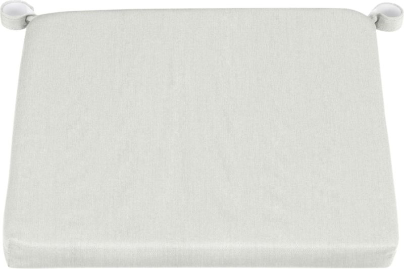 Add extra comfort to Rocha dining chairs and barstools with fade-, water- and mildew-resistant Sunbrella® acrylic cushions in warm white sand.<br /><br /><NEWTAG/><ul><li>Fade- and mildew-resistant Sunbrella® acrylic</li><li>Polyurethane foam fill</li><li>Cushion is secured with fabric tab fasteners</li><li>Spot clean</li><li>Made in China</li></ul>