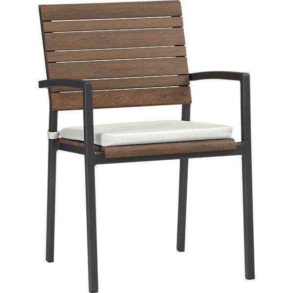 Rocha Dining Chair with Sunbrella ® White Sand Cushion