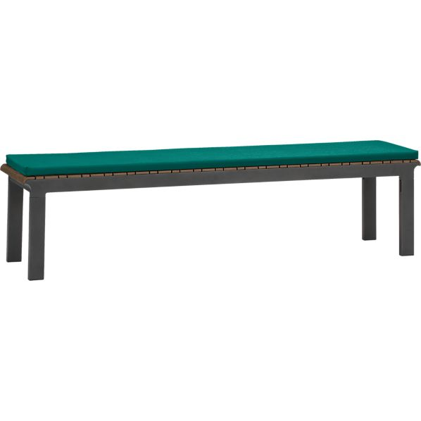 Rocha Dining Bench with Sunbrella ® Harbor Blue Cushion