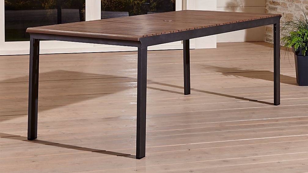 Rocha Outdoor Rectangular Dining Table Crate And Barrel