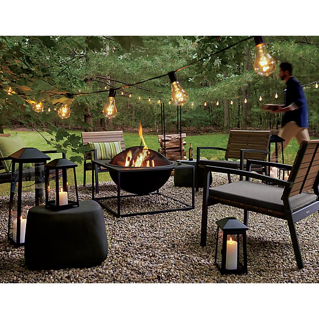 Carswell Large Fire Pit In Decor Reviews Crate And Barrel