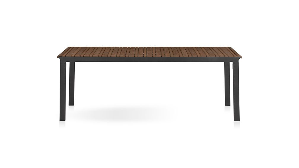 Rocha II Rectangular Dining Table Reviews Crate And Barrel - Outdoor wood rectangular dining table
