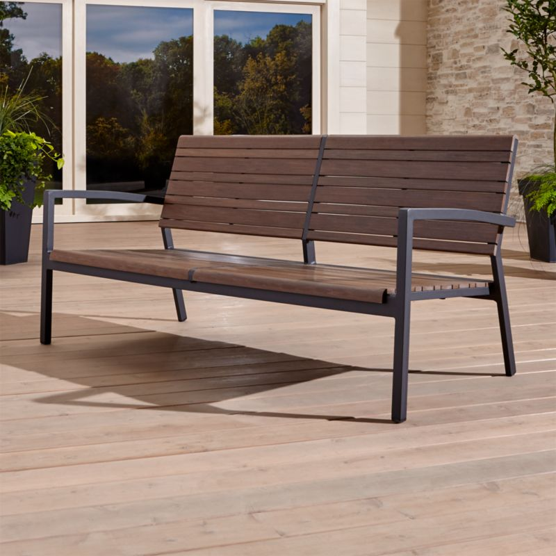 Create an outdoor living space that will draw double-takes with its realistic look of Brazilian ipe wood in weather-resistant polystyrene. This stylish, durable collection designed for the great outdoors translates the beautiful grain and warm tones of natural wood in an enduring modern material. <NEWTAG/><ul><li>Aluminum with powdercoat finish</li><li>Extruded polystyrene with UV and antioxidant protection</li><li>Made in China</li></ul><br />