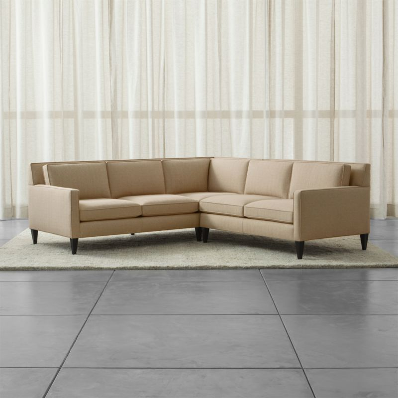 Rochelle 2 Piece Left Arm Corner Midcentury Modern Sectional Crate