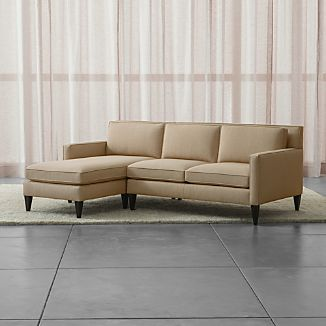 Rochelle 2 Piece Left Arm Chaise Midcentury Modern Sectional