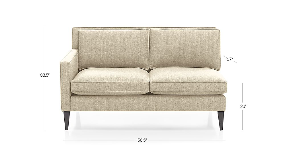 Rochelle Left Arm Loveseat Crate And Barrel