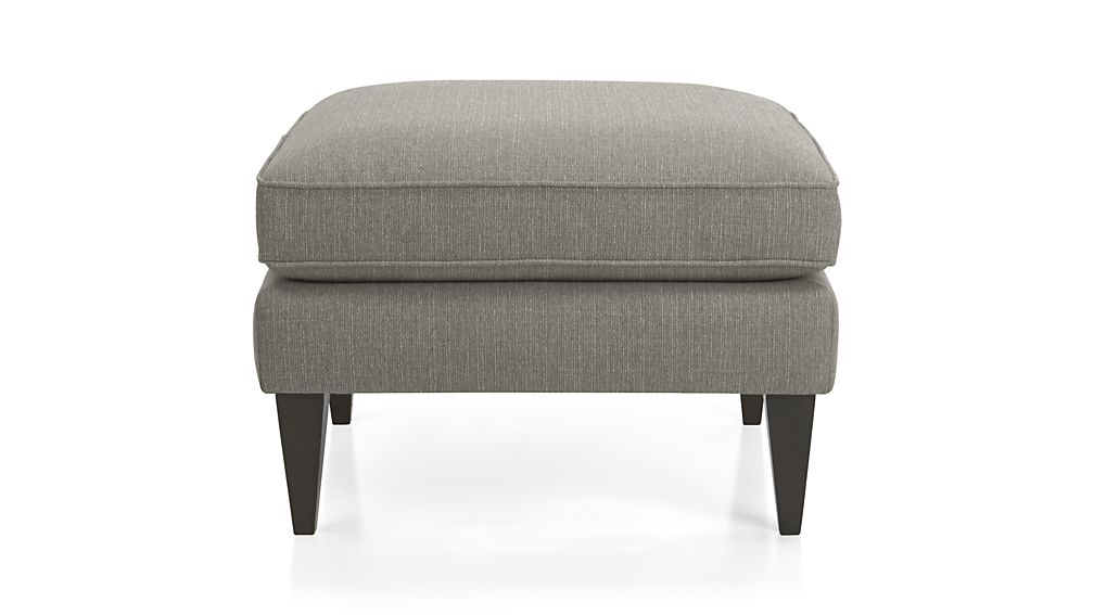 rochelle dark grey ottoman crate and barrel. Black Bedroom Furniture Sets. Home Design Ideas