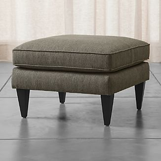 Modern Furniture Ottoman mid century modern furniture | crate and barrel