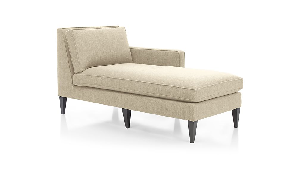 Rochelle Midcentury Modern Right Arm Chaise Lounge Reviews Crate And Barrel