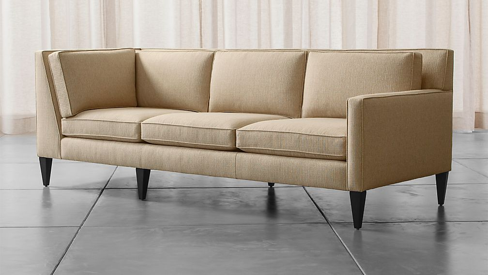 Roce Midcentury Modern Right Arm Corner Sofa Reviews Crate And Barrel