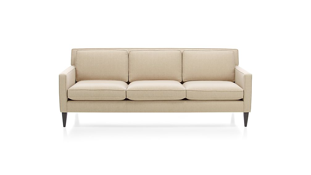rochelle mid century modern couch reviews crate and barrel - Crate And Barrel Sofa