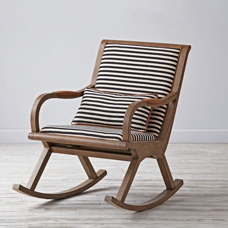 Bakersfield Black And White Rocking Chair In Rocking Chairs U0026 Gliders +  Reviews | Crate And Barrel