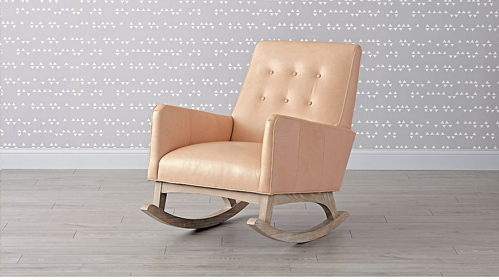 Everly Leather Tufted Rocking Chair - Image 1 of 6