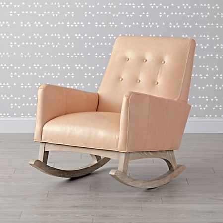 Stupendous Everly Leather Tufted Rocking Chair Theyellowbook Wood Chair Design Ideas Theyellowbookinfo