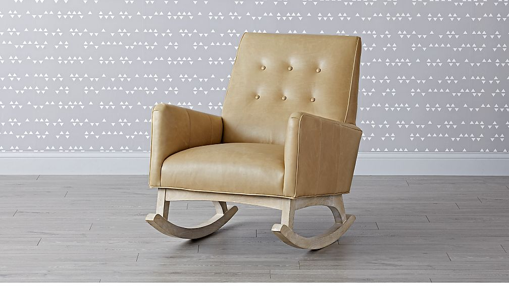 Everly Leather Tufted Rocking Chair - Image 1 of 8