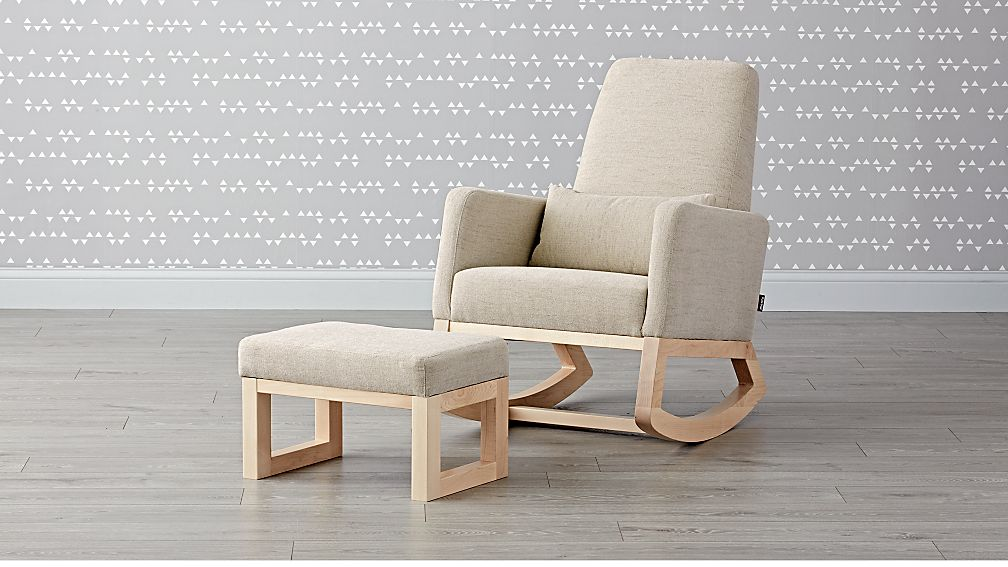 Joya Rocking Chair and Ottoman - Image 1 of 6