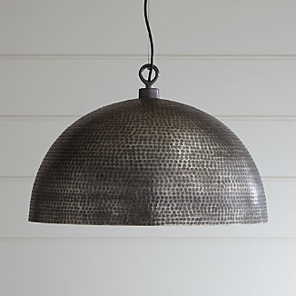Rodan Hammered Metal Dome Pendant Light