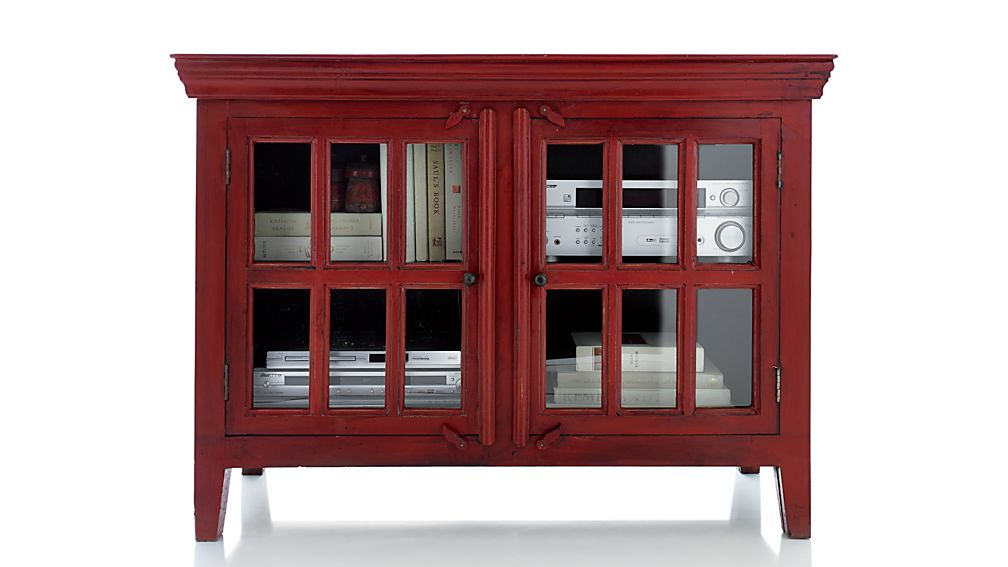 """Rojo Red 46"""" Media Storage Cabinet"""