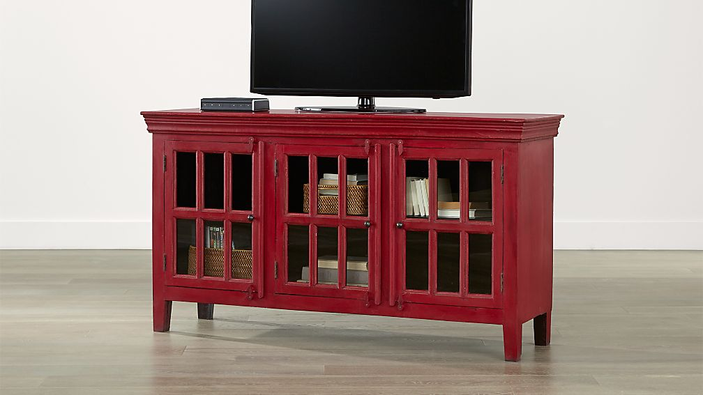 "Red Console Table rojo red 62"" media console 