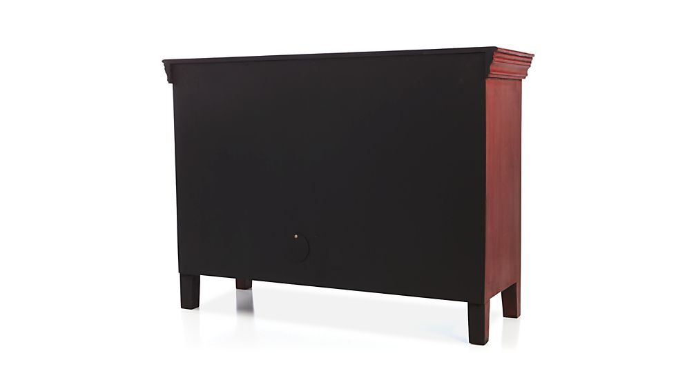 "Rojo Red 46"" Media Storage Cabinet"