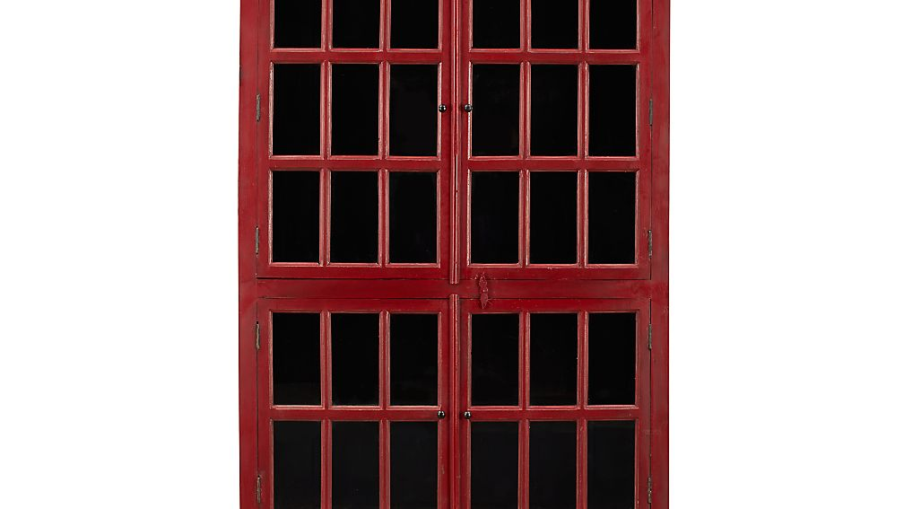 Rojo Tall Cabinet | Crate and Barrel