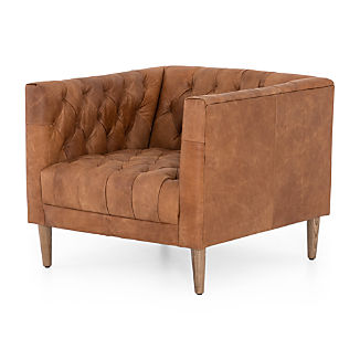 Suede Look Fauteuil.Living Room Chairs Accent Swivel Crate And Barrel