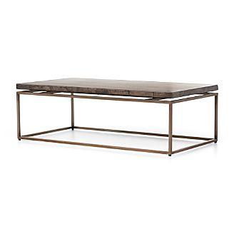 Roman Metal Top Coffee Table