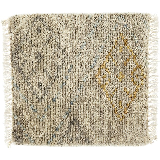 "Romina Wool-Blend 12"" sq. Rug Swatch"