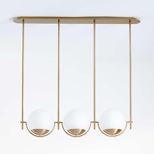 Rondure Three-Globe Pendant Light
