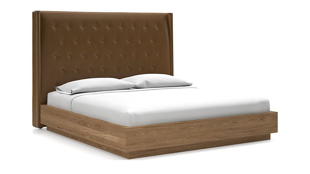 Ronin King Headboard with Batten Plinth-Base Bed Saddle Faux Leather - Image 1 of 1