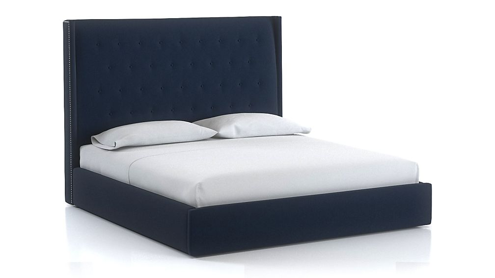 Ronin King Tufted Wingback Bed Sapphire - Image 1 of 1