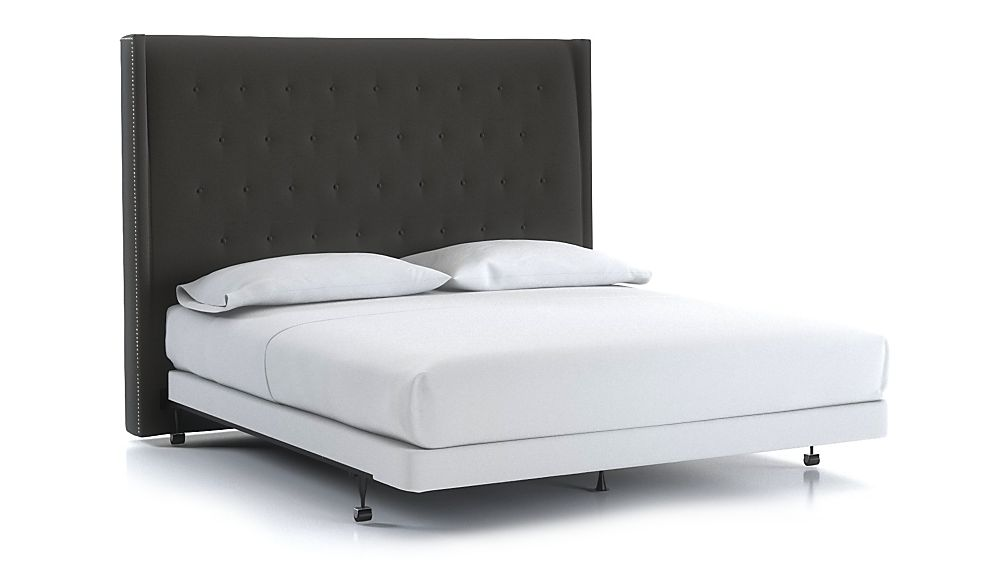 Ronin King Tufted Wingback Headboard Carbon - Image 1 of 1