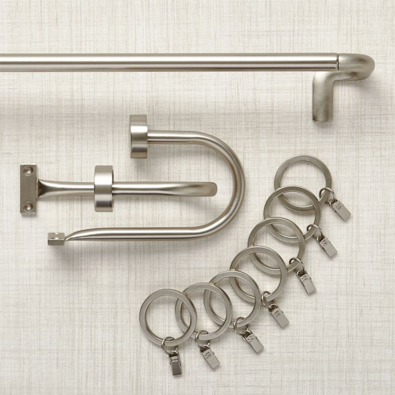 Curtain Rods, Tie Backs, Rings & Hardware   Crate and Barrel