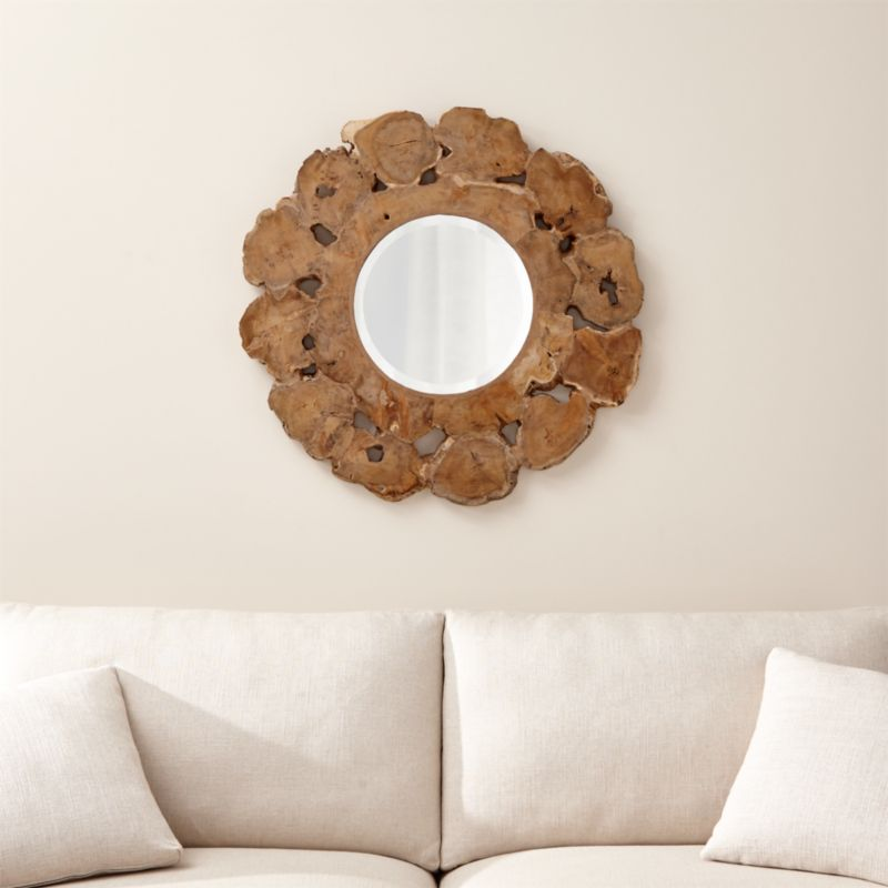 Round Driftwood Mirror Reviews Crate And Barrel